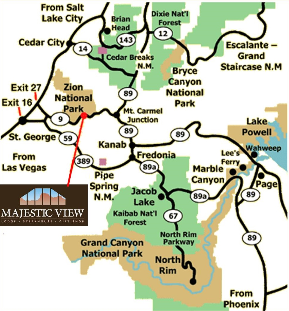 Majestic View Lodge Map